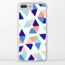 Geometric Bay Clear iPhone Case