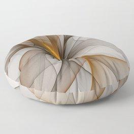 Elegant Chaos, Abstract Fractal Art Floor Pillow