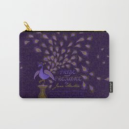 Paisley Peacock Pride and Prejudice: Royal Carry-All Pouch