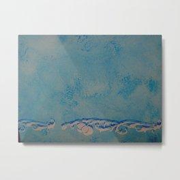 Venice marble (cyan) Metal Print
