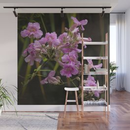 Pink Fairy Dust Tropical Wild Flowers Wall Mural