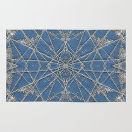 Snowflake Blue Rug