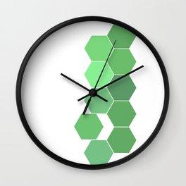"Hexagon ""die grünen Waben"" Wall Clock"