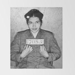 Rosa Parks Mugshot Throw Blanket