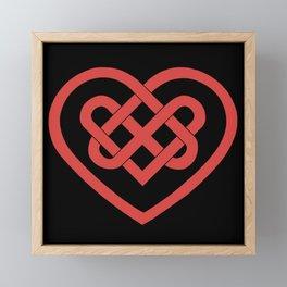 Celtic Heart (Dark) Framed Mini Art Print