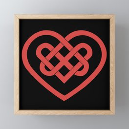Celtic Heart (Dark) Framed Mini Art Print