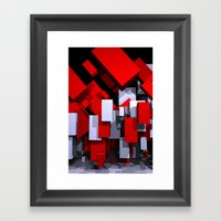 boxes - portrait format Framed Art Print