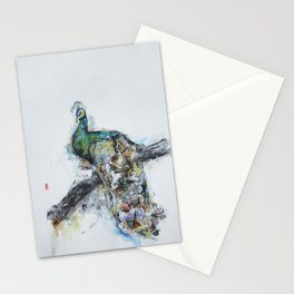 Endangered Species- Green Peacock Stationery Cards