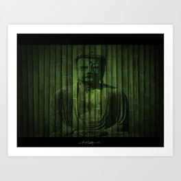 Peaceful Buddha Art Print