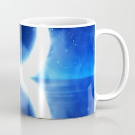 Crescent Moon over blue Starry Sky Coffee Mug