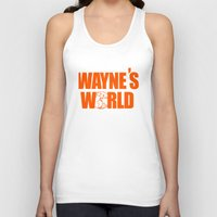 snl Tank Tops featuring Waynes World logo SNL saturday night live 90s Funny Geek Nerd by jekonu