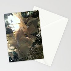 white flower in tree Stationery Cards