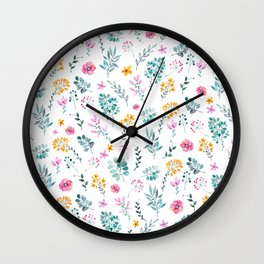 Assorted Blooms Wall Clock