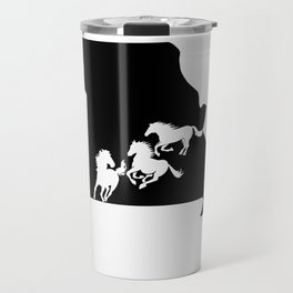 Missouri Fox Trotter Horse Lover Black Travel Mug
