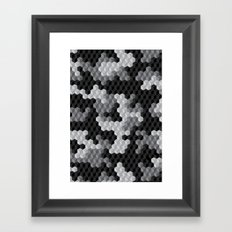CUBOUFLAGE BLACK & WHITE Framed Art Print