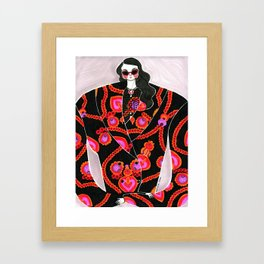 Anna Sui Girl in Fall 2018 – Original Fashion art, Fashion Illustration, Fashion wall art Framed Art Print