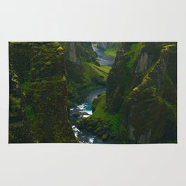 River in the Valley (Color) Rug