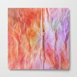 Crumpled Paper Textures Colorful P 888 Metal Print