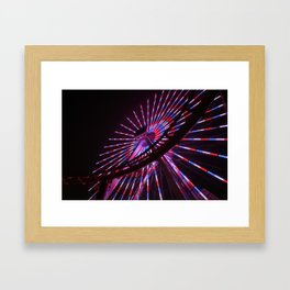 Santa Monica Lights Framed Art Print