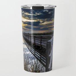 Farmington Bay Sunset - Great Salt Lake Travel Mug