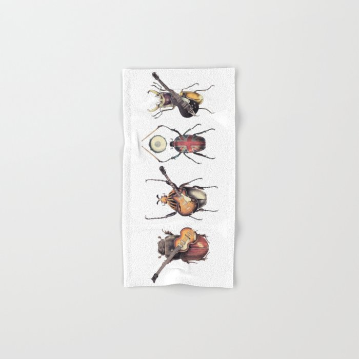 Meet the Beetles (white option) Hand & Bath Towel