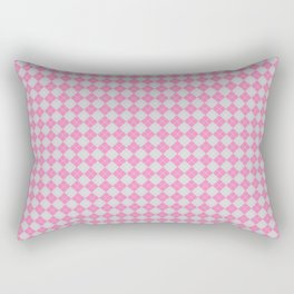 Argyle Pattern | Pink and Grey Rectangular Pillow
