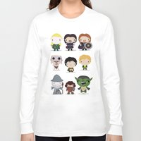 lotr Long Sleeve T-shirts featuring LOTR by Maria Jose Da Luz