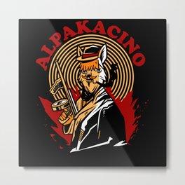 Film Star Alpakacino Alpaka Sweatshirt Metal Print