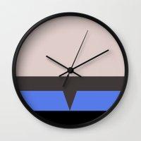 hologram Wall Clocks featuring The Doctor - Minimalist Star Trek Voyager VOY - startrek - Trektangle Trektangles - EMH by Trektangles