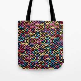 Seamless Colorful Geometric Pattern XXIV Tote Bag