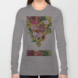 Parrot Floral Long Sleeve T-shirt