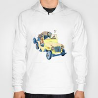jeep Hoodies featuring Animal Jeep by Claire Sianna