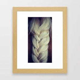 Braided Horse Tail Framed Art Print