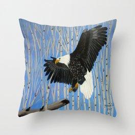 Bald Eagle-3 Throw Pillow