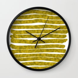 Gold Lines Wall Clock