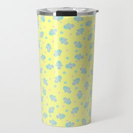Yellow Hamsa Toss Travel Mug