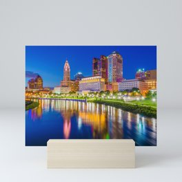 The Columbus Skyline 03 Mini Art Print