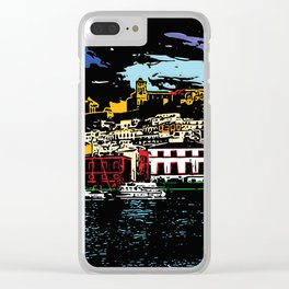 Ibiza Town Clear iPhone Case