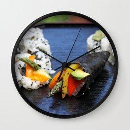 Sushi California Roll Wall Clock