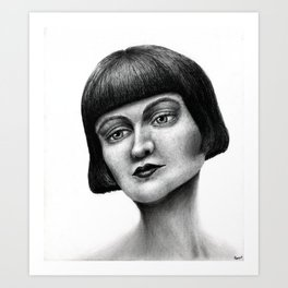 Untitled - charcoal/graphite drawing Art Print