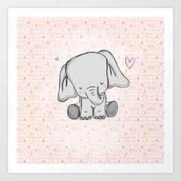 elephant girly cuty Art Print