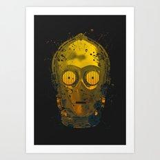 C3PO Splash Art Print