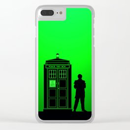 Tardis With The Second Doctor Clear iPhone Case