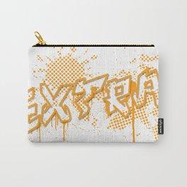 extra splash orange grafitti design Carry-All Pouch