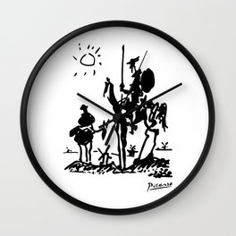 Pablo Picasso Don Quixote 1955 Artwork Shirt, Reproduction Wall Clock
