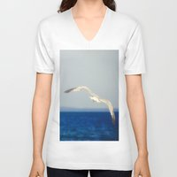flight V-neck T-shirts featuring Flight by Pure Nature Photos