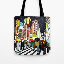 Umbrellas in Tokyo Rain Tote Bag