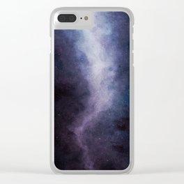 Amethyst Galaxy Clear iPhone Case