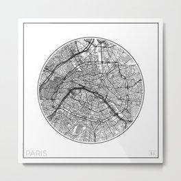 Paris Map Universe Metal Print