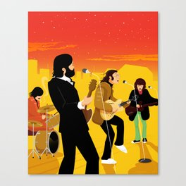 Fab Rooftop Concert Canvas Print